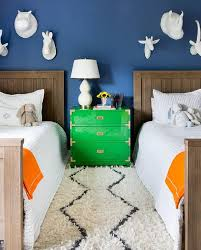 boys room with green campaign nightstand dresser contemporary