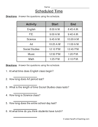 time worksheet have fun teaching