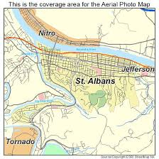 map of st albans aerial photography map of st albans wv west virginia
