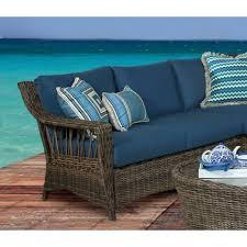 sea rattan saint john wicker right side facing sofa sectional in