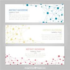 science banner templates vector free download