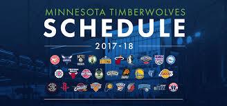 2017 18 timberwolves schedule released minnesota timberwolves