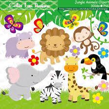 jungle clipart rainforest animal pencil and in color jungle
