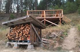 Plans To Build A Small Wood Shed by Diy Firewood Storage Shed U0026 Plans Pure Living For Life