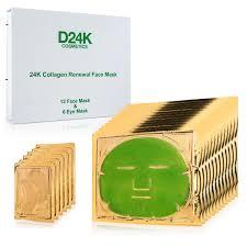 D Collagen d or 24k 18 in 1 collagen renewal firming eye mask set 1