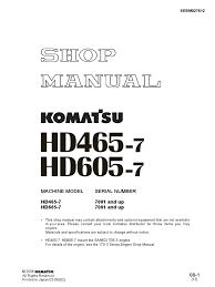 hd465 7 shop manual sn 7001 up mechanical engineering