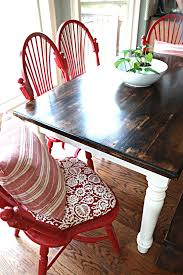 Painted Kitchen Tables And Chairs by Best 25 Red Kitchen Tables Ideas On Pinterest Paint Wood Tables