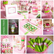 pink and green possible baby shower theme baby shower