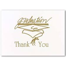 thank you cards for graduation gold graduation stationery thank you cards 571