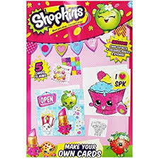 shopkins childrens make your own cards cut outs