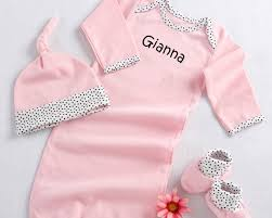 personalize baby gifts 3 layette set in keepsake gift box personalization available