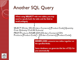 sql select from multiple tables databases database driven websites notes ppt video online download