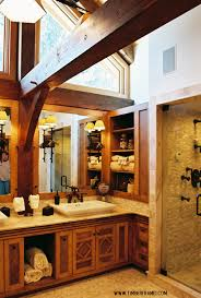 timber frame bathrooms change the cabinets and light fixtures