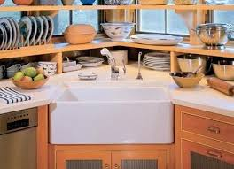 Best Sinks Corner Images On Pinterest Corner Sink Kitchen - Corner cabinet for farmhouse sink