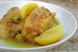 cuisine marocaine poulet tajine de poulet aux citrons confits et olives les épices rient