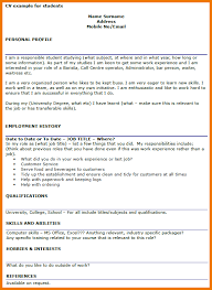 Transferable Skills Resume Example by 7 Example Cv Student Postal Carrier