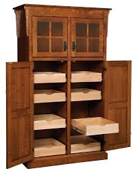 Kitchen Cabinet Wood Choices Amish Mission Rustic Kitchen Pantry Storage Cupboard Roll Shelf