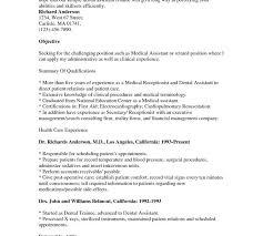 dental assistant internship resume resume ideas