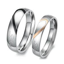 love rings silver images Inblue men women 39 s stainless steel band ring silver jpg