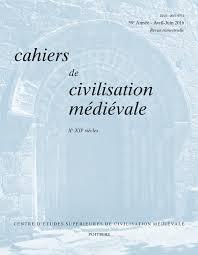 bureau des hypoth鑷ues cahiers de civilisation médiévale 59 2 fascicule 234 carnets
