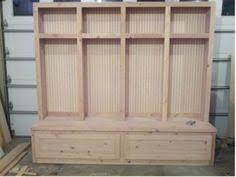 Entryway Locker System How To Build Mudroom Lockers Garage Pinterest Mudroom