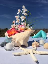 orchid centerpieces creative idea awesome conch seashell wedding table centerpiece