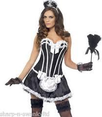 Rocky Horror Halloween Costume Ladies Corset Tutu French Maid Rocky Horror Fancy Dress