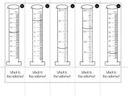 volume of graduated cylinders foldable by smith science and lit tpt