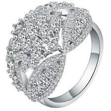 zircon engagement rings wedding gift micro paved white cz zircon