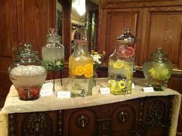 food tables at wedding reception water bar simply elegant diy shabby chic weddings az food