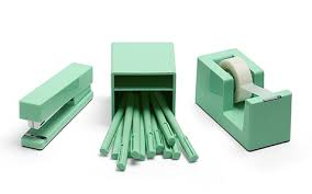 Green Desk Accessories These Cheery Color Coordinated Desk Accessories Are Poppin