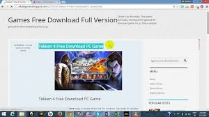 tekken 4 free download pc game video dailymotion