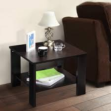 Sofa End Tables With Storage by Modern Square Coffee Tea Side Sofa Table Storage With Bottom Shelf