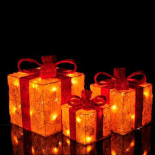 christmas present light boxes christmas decoration light up presents christmas ideas