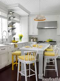 different shades of gray gray yellow and white kitchens kitchen ideas walls with oak