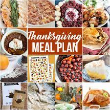 thanksgiving meal plan a dash of sanity