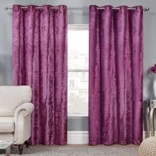 Plum Velvet Curtains Elegance Plum Crushed Velvet Luxury Eyelet Curtains Pair