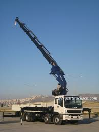 quality durable isuzu 8 4 mobile 16t knuckle boom truck mounted