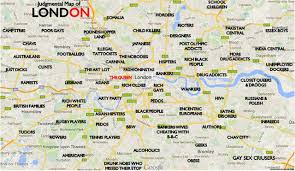 London On Map Humor The Judgemental Map Of London A Funny Map Of London