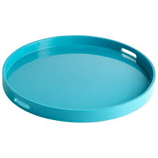 Design For Large Serving Tray Ideas Furniture Round Large Ottoman Tray In Blue For Home Furniture Ideas