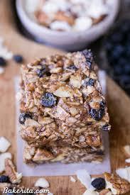 Almond U0026 Coconut Bars Coconut Snack Bars Kind Snacks by No Bake Trail Mix Granola Bars Paleo Vegan Bakerita