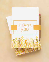 wedding gift thank you notes 9 tips for writing thank you notes for wedding gifts martha