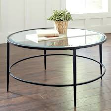 coffee tables beautiful round glass coffee table and metal