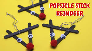 popsicle stick reindeer christmas craft ideas popsicle stick