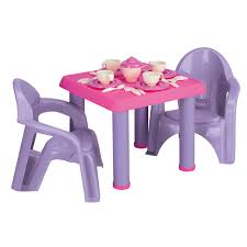 Table And Chairs Set American Plastic Toys 28 Pc Tea Party Set Hayneedle