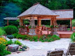 house plans with gazebo porch backyard nice house plans with