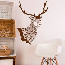 popular hunting decore buy cheap hunting decore lots from china deer wall decal vinyl stickers tribal boho bohemian bedroom living room rustic wall art hunting deer