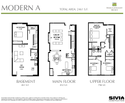 shaughnessy mews floor plans langley non strata townhouse