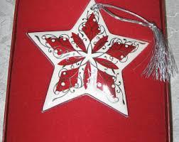 vintage lenox ornaments etsy
