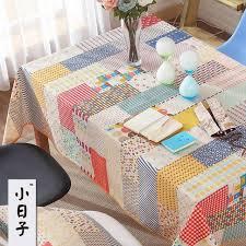custom dining table covers good quality fluid cloth zakka patchwork dining table cloth regular